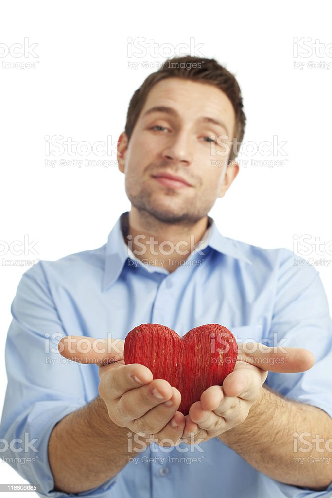 Young student with heart stock photo
