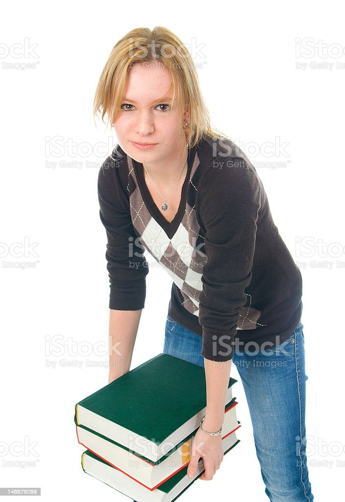 Young student with the books royalty-free stock photo