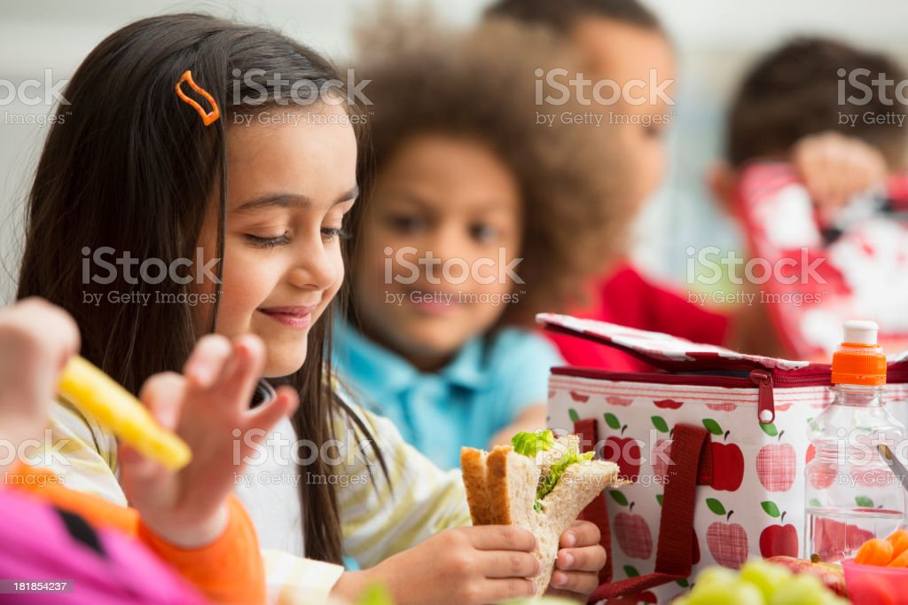 Young Students at Lunchtime royalty-free stock photo