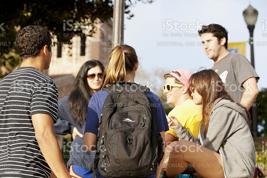 Young students at University of California, Los Angeles stock photo
