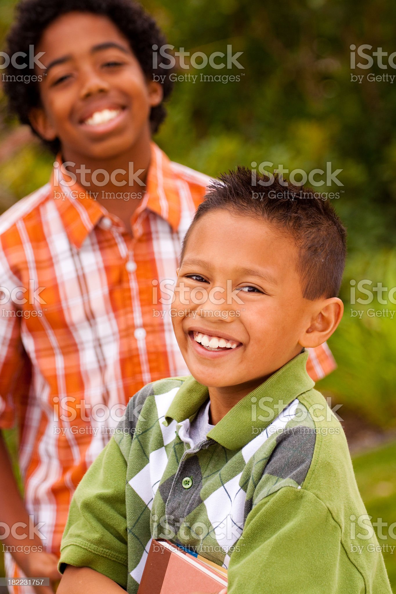 Young Students carrying books royalty-free stock photo