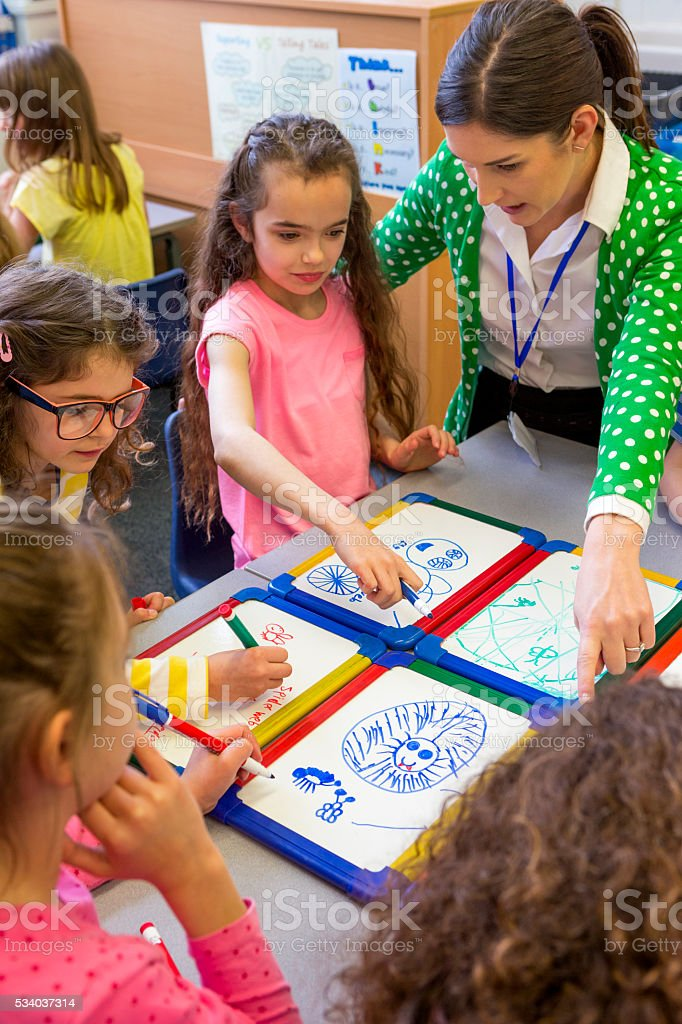 Young Students Getting Creative stock photo