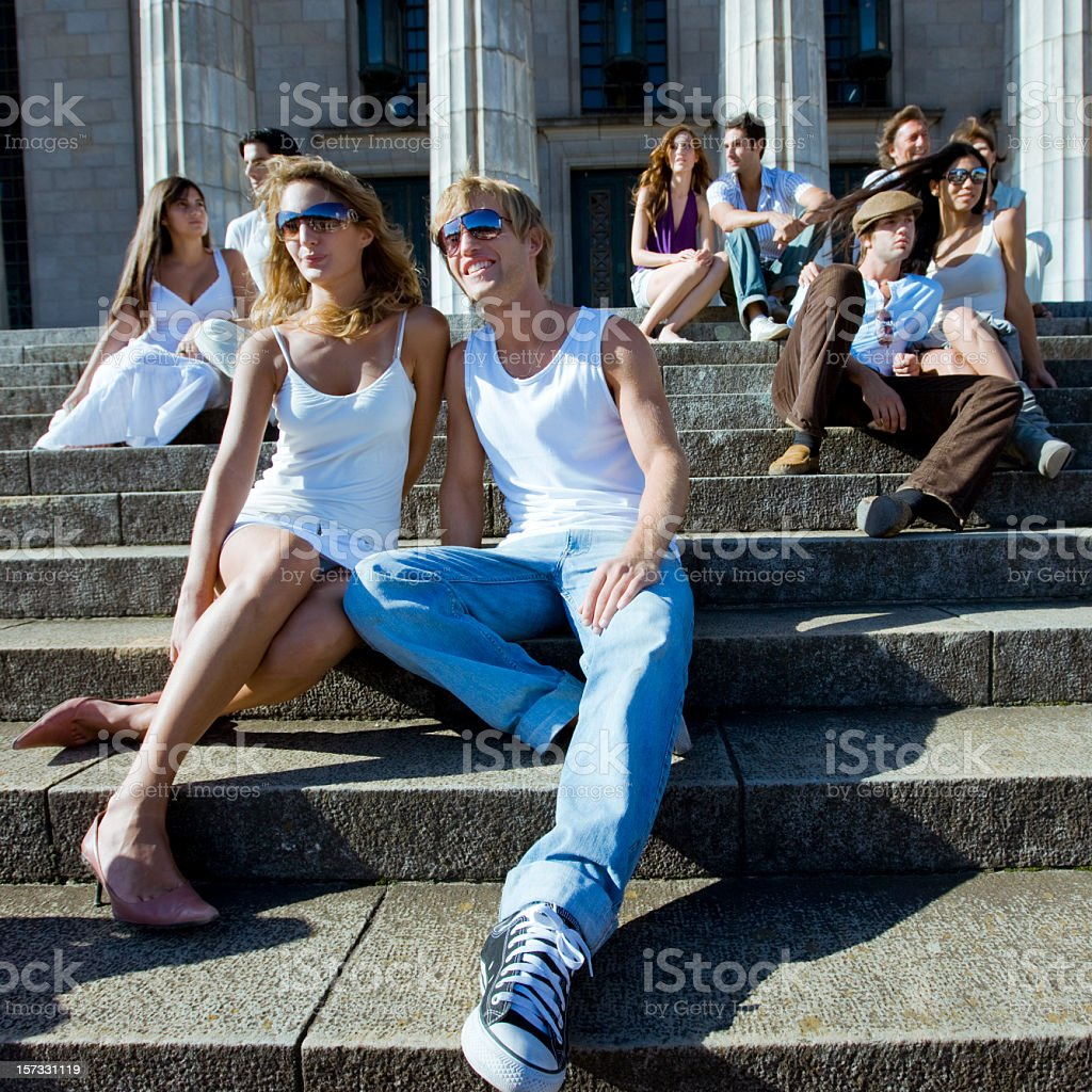 Young Students Having Fun royalty-free stock photo