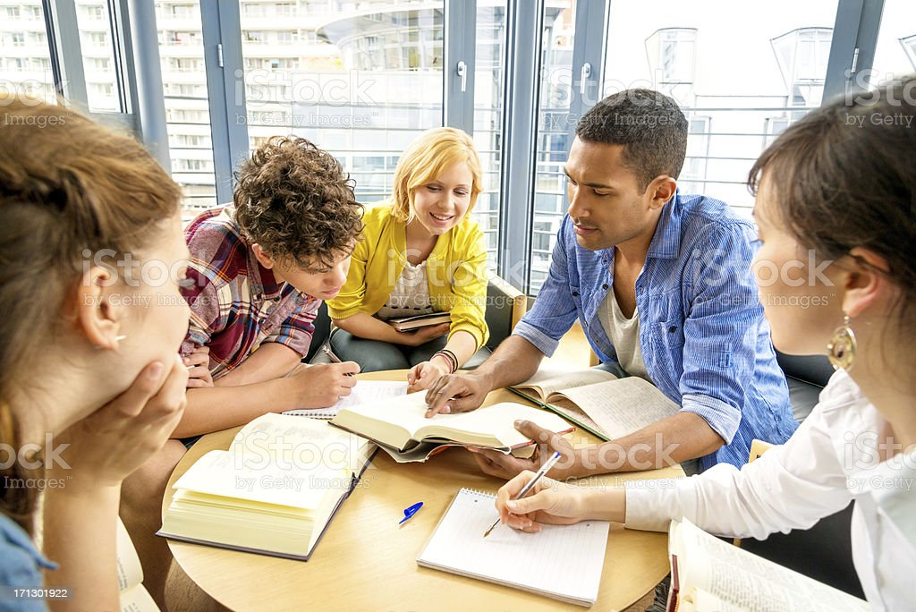 Young Students Working royalty-free stock photo