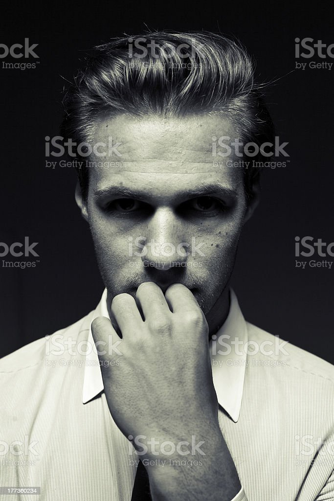 young style portrait stock photo