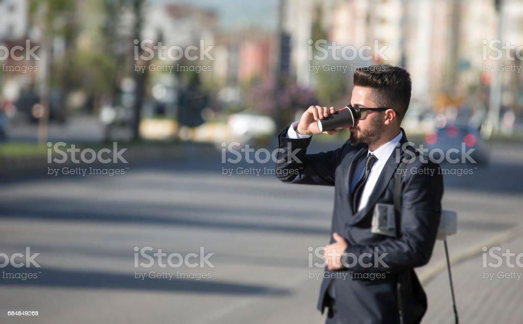Young stylish businessman stock photo