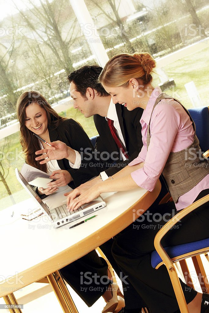 young successful business team is working royalty-free stock photo