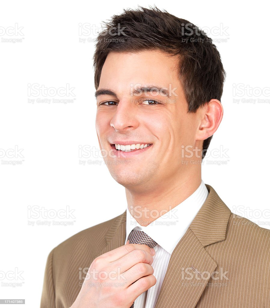 Young successful businessman, isolated stock photo