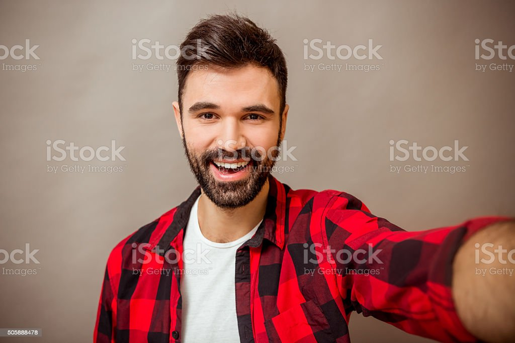 Young successful man stock photo