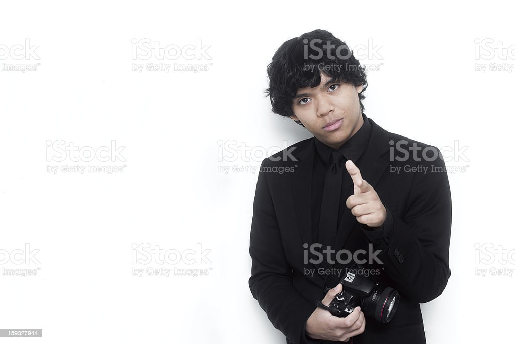 Young Successful Photographer royalty-free stock photo