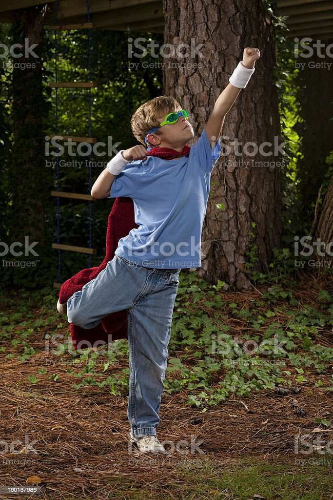 Young Super Hero royalty-free stock photo