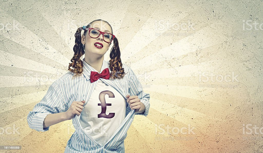 Young  super hero woman royalty-free stock photo