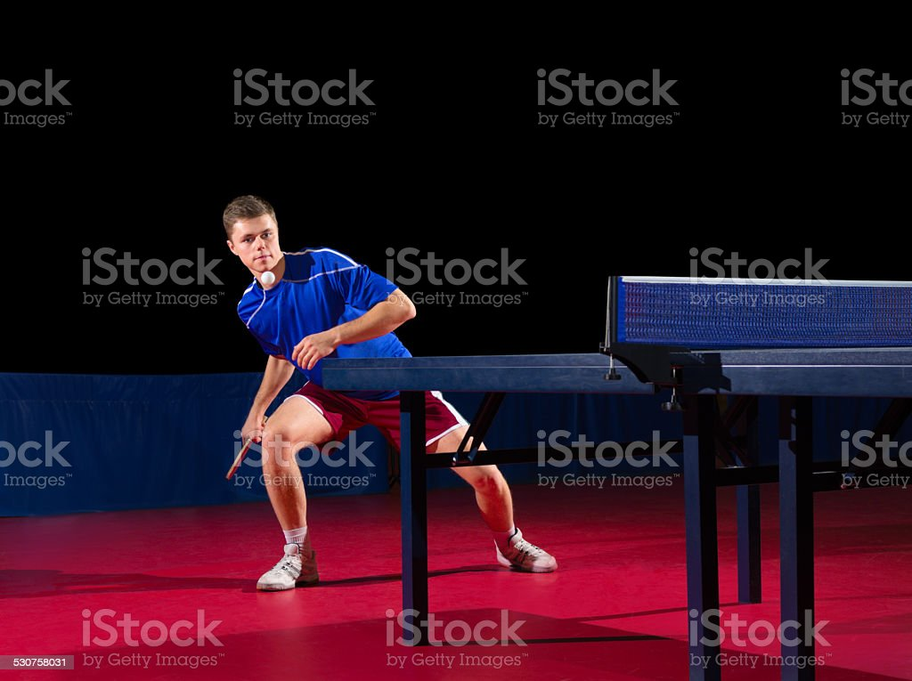 Young table tennis player stock photo