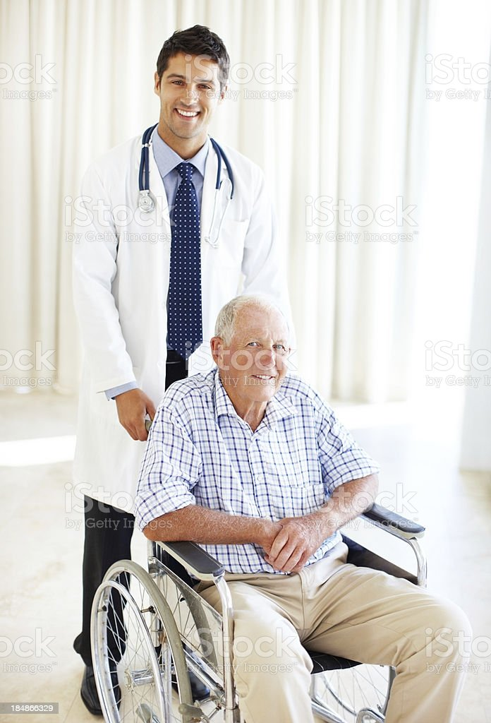Young taking care of the old royalty-free stock photo