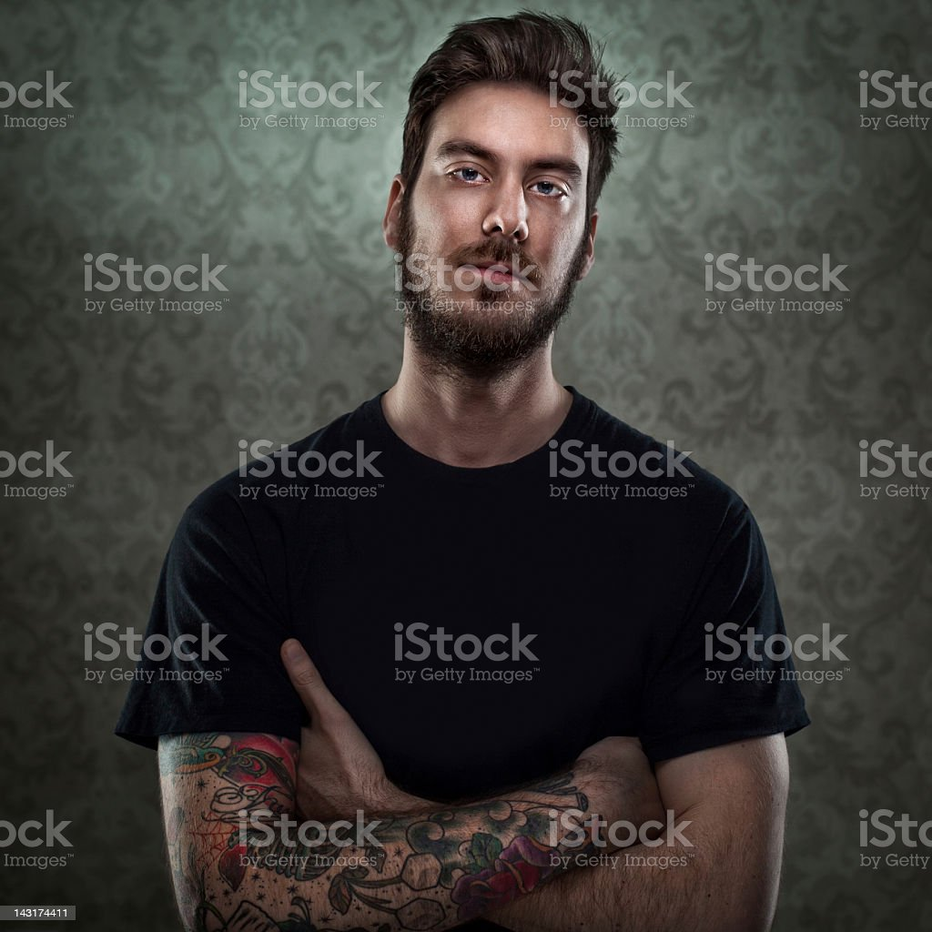 Young Tattoo Artist stock photo