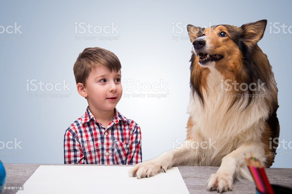 Young Teacher And Special Pupil stock photo