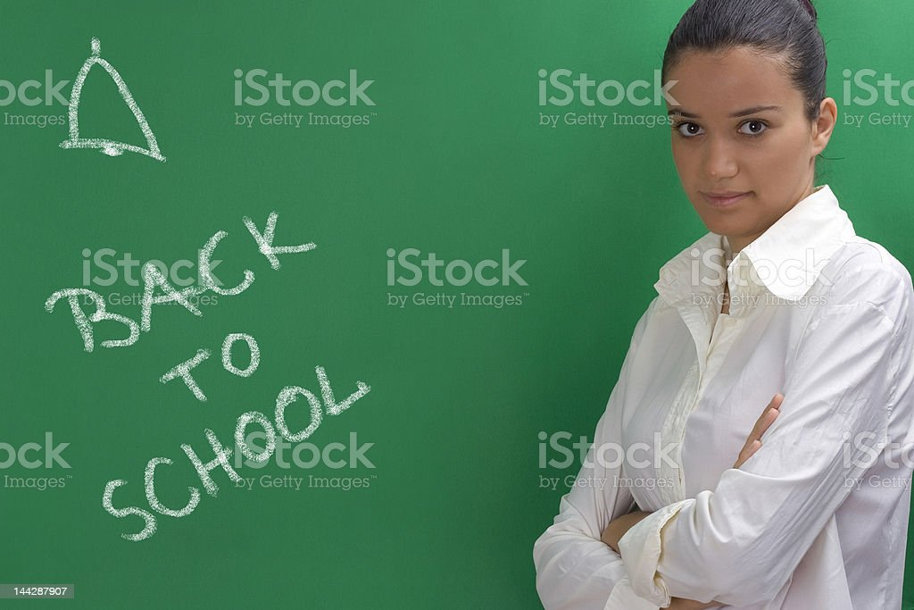 young teacher royalty-free stock photo
