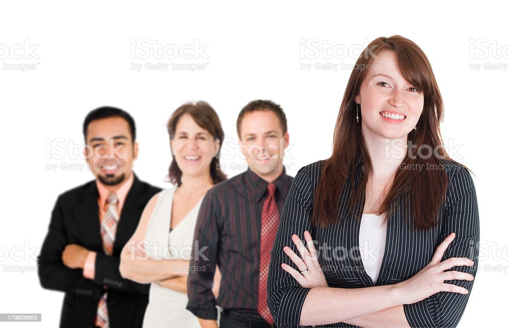 Young Team (XXL) royalty-free stock photo