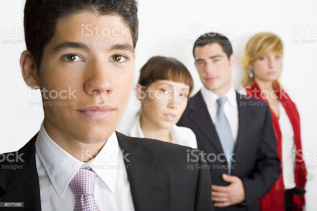 Young team royalty-free stock photo