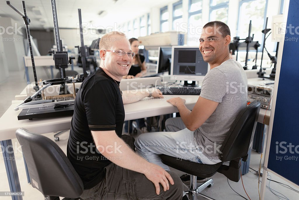 young technical scientist stock photo