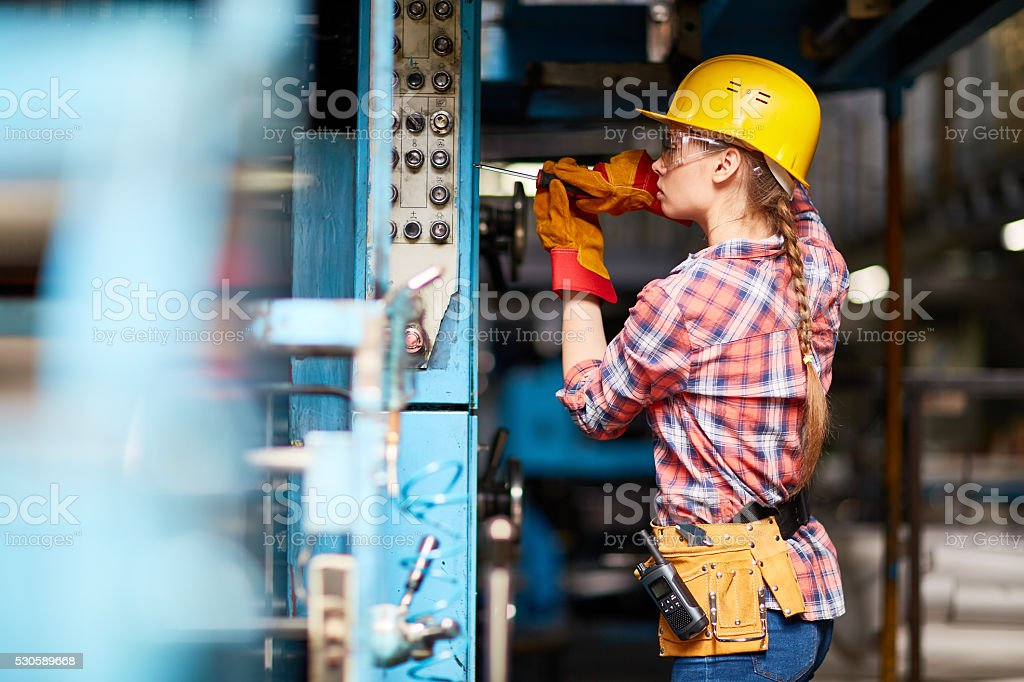 Young technician stock photo
