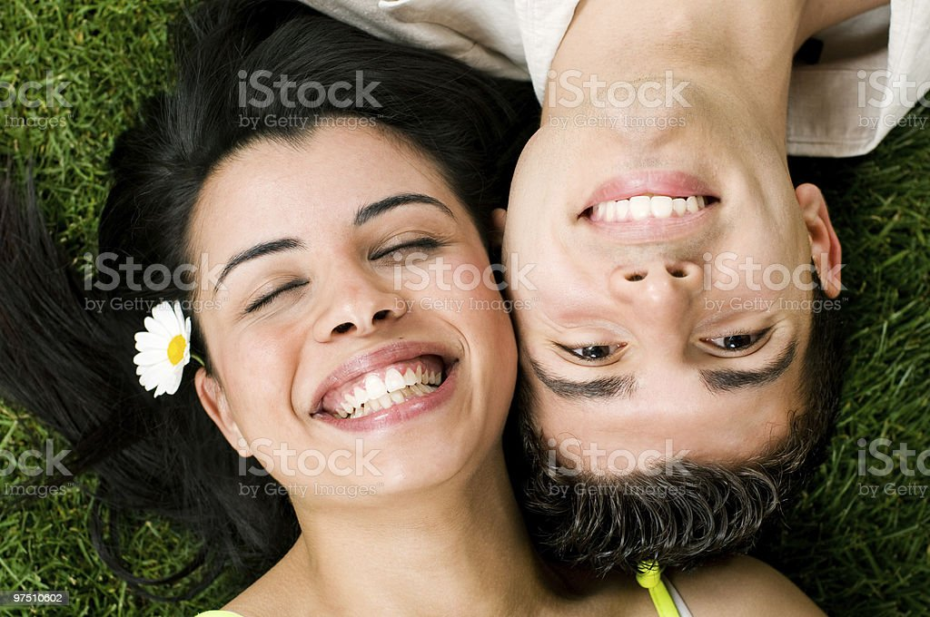 Young teen couple have fun royalty-free stock photo