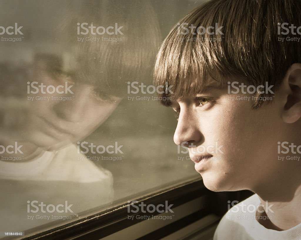 Young Teen Thinking royalty-free stock photo