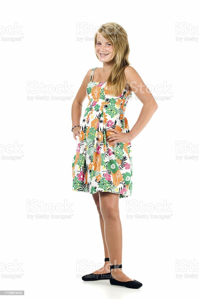 Young teenage girl royalty-free stock photo