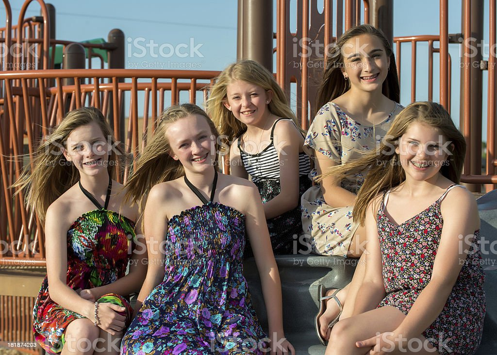 Young teenage girls royalty-free stock photo