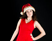 Young teenager in Christmas outfit