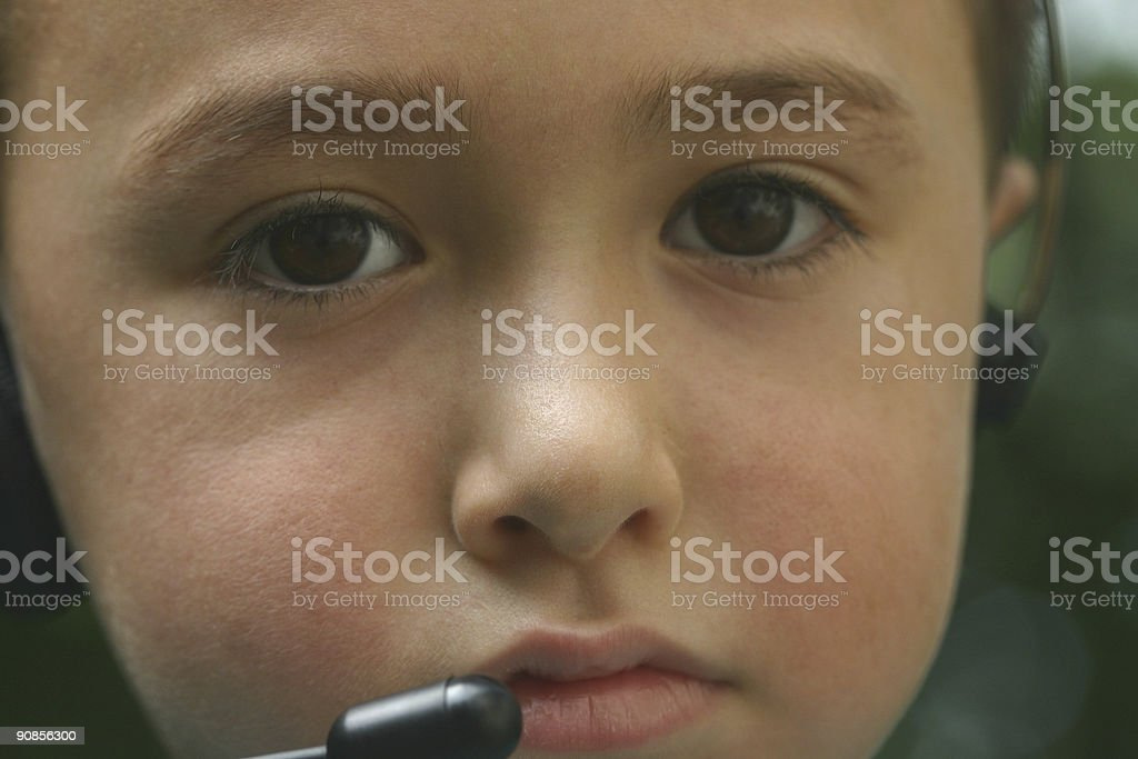 Young Telemarketer3 stock photo