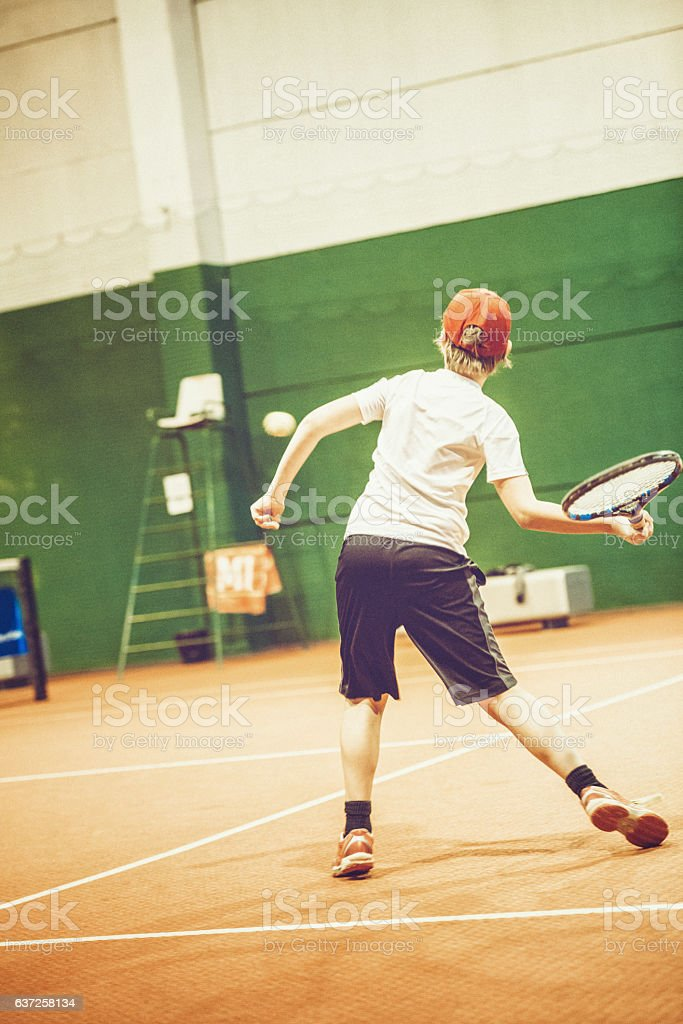 Young Tennis Player stock photo