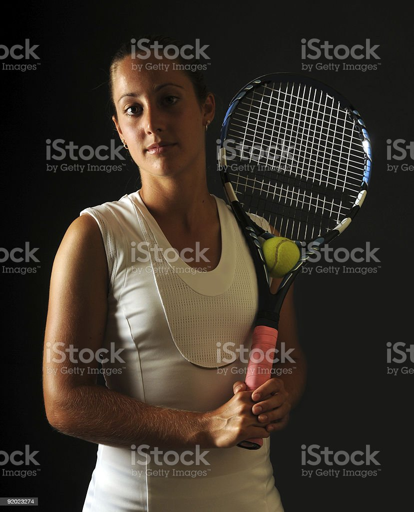 Young tennis pro royalty-free stock photo