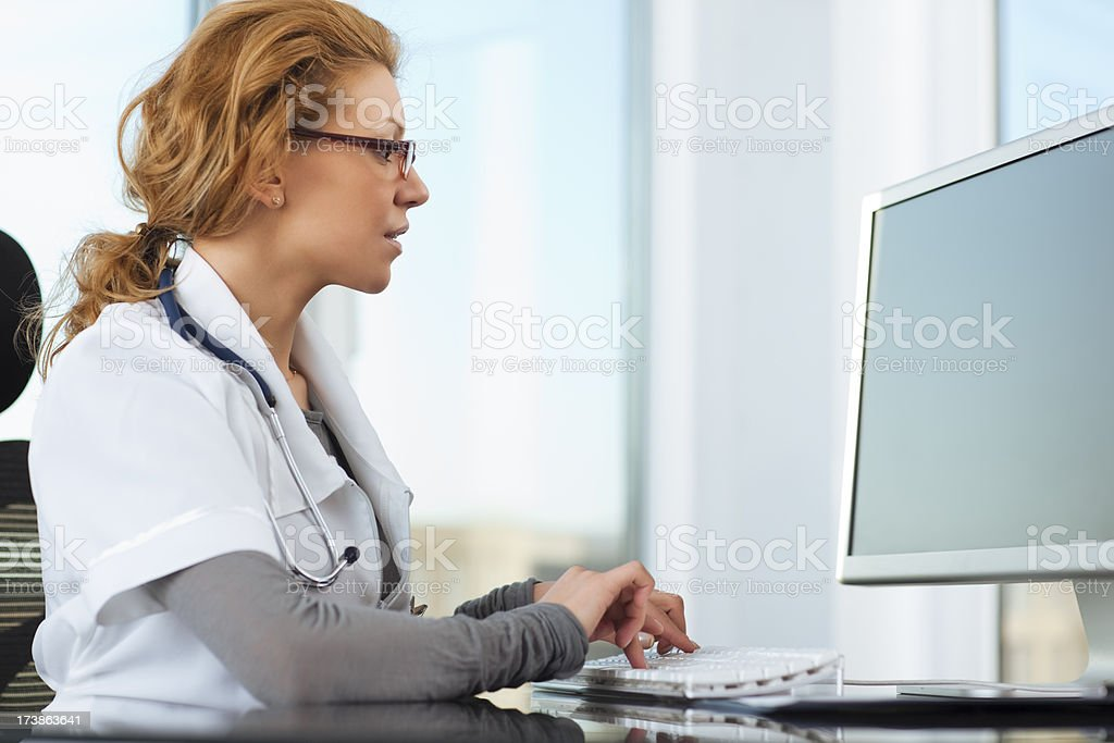 Young the doctor stock photo