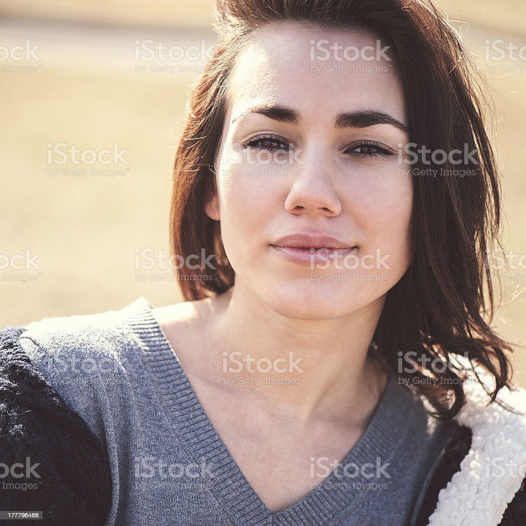 Young thoughtful woman royalty-free stock photo