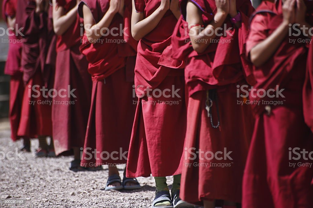 Young Tibetan monks stock photo