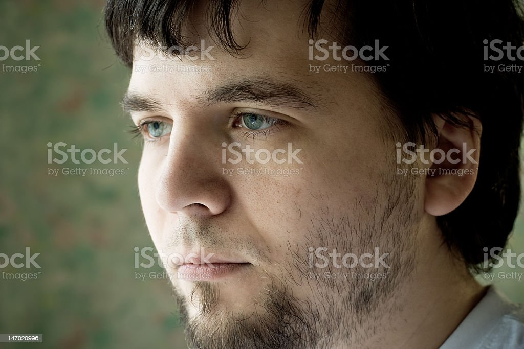young tired man royalty-free stock photo