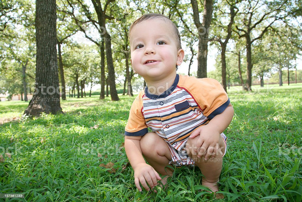 Young Toddler in a Field royalty-free stock photo