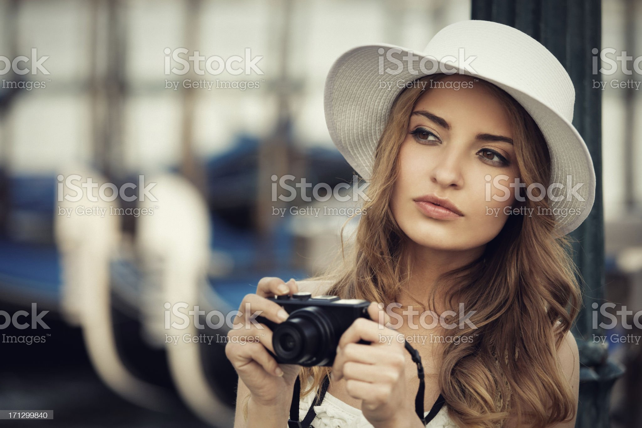 young tourist in Venice royalty-free stock photo
