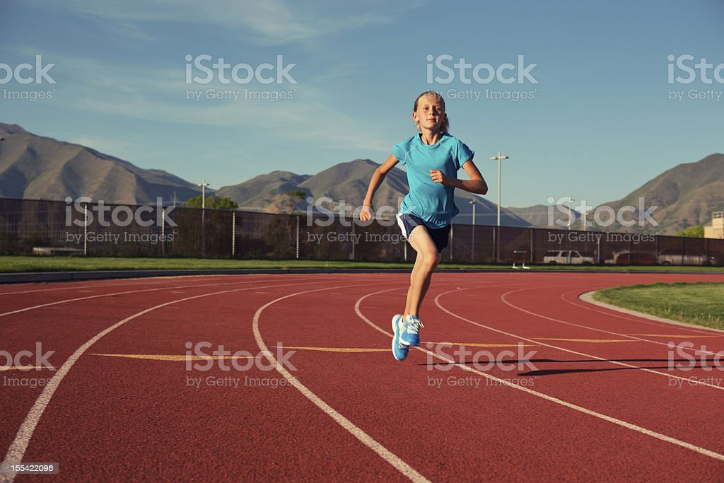 Young Track Runner stock photo
