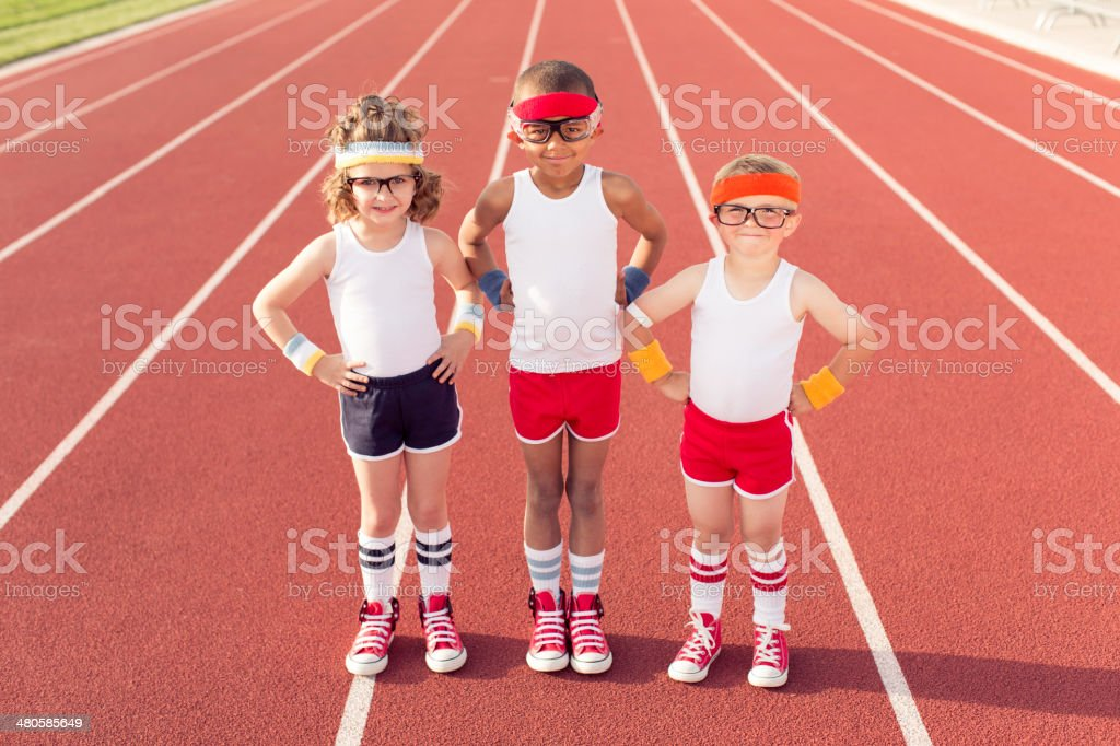 Young Track Team stock photo