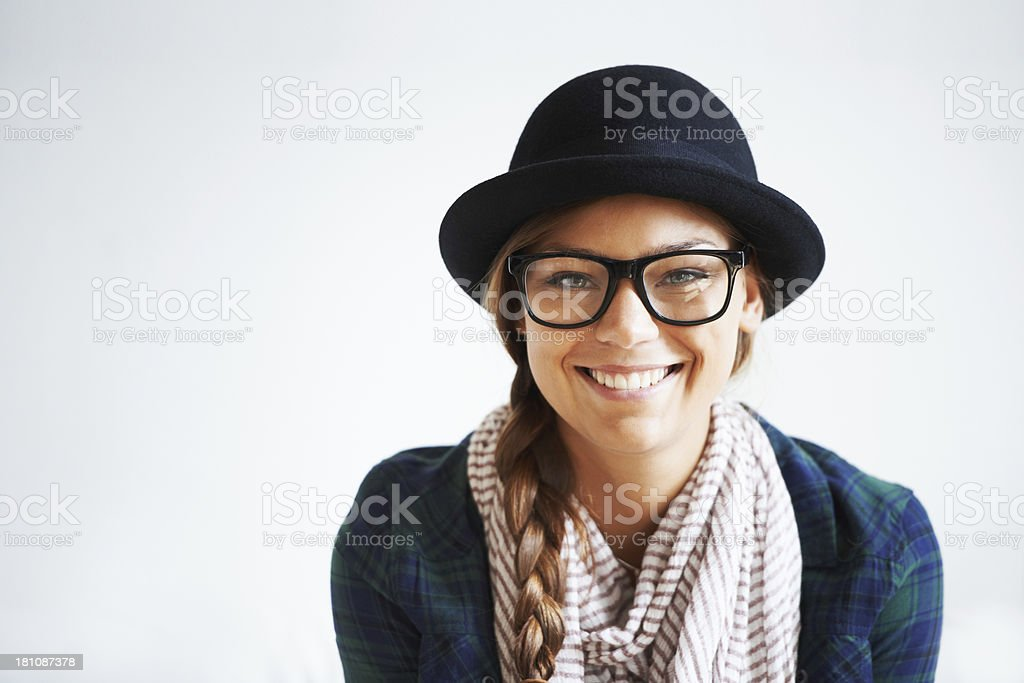 Young, trendy and confident stock photo