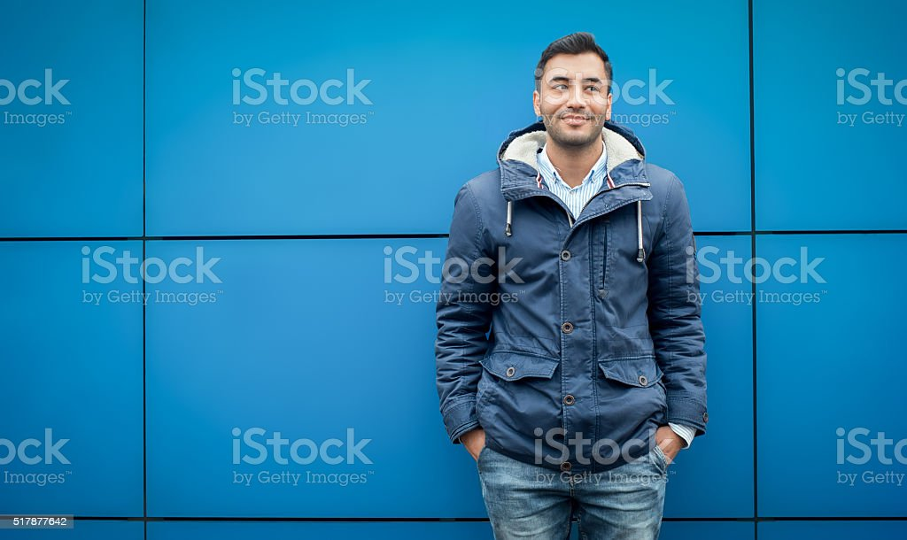 Young trendy man stock photo