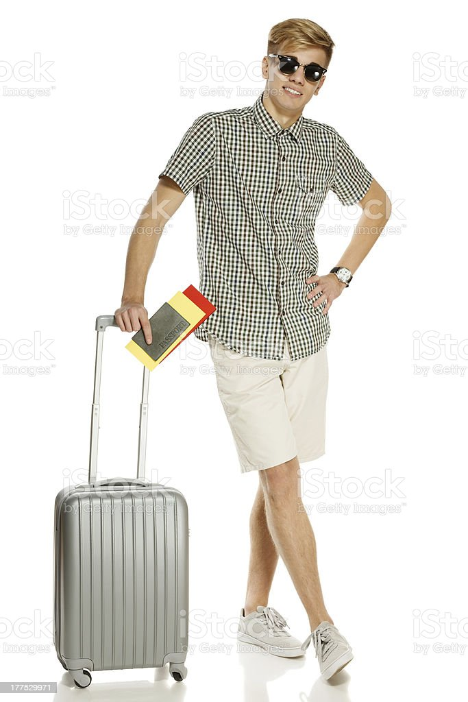 Young trendy man tourist royalty-free stock photo