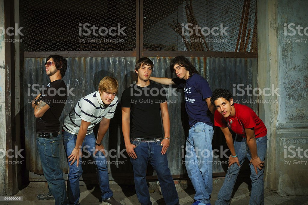 Young trendy team stock photo