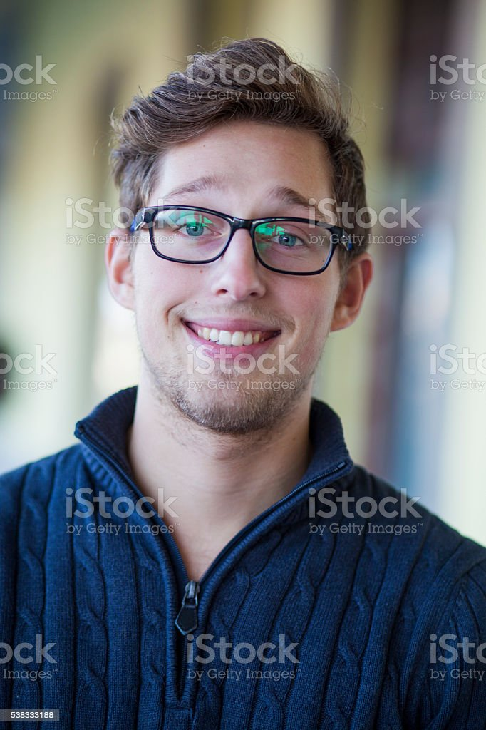 Young tudent portrait stock photo