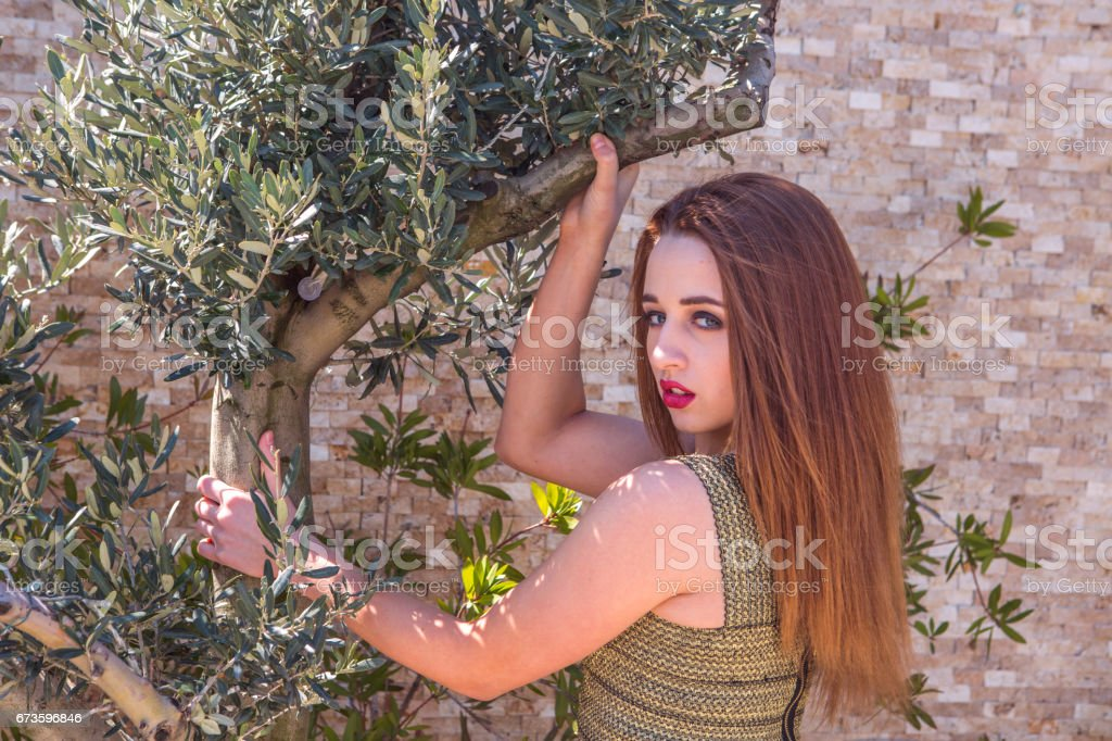 Young ukrainian woman model posing in istanbul Turkey stock photo