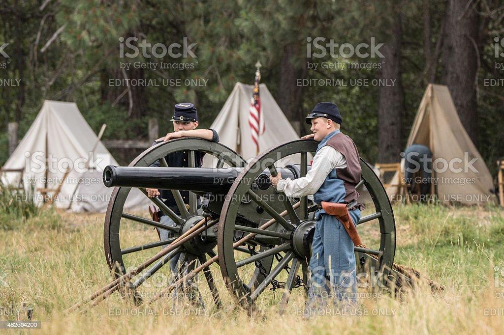 Young Union Gun Crew stock photo