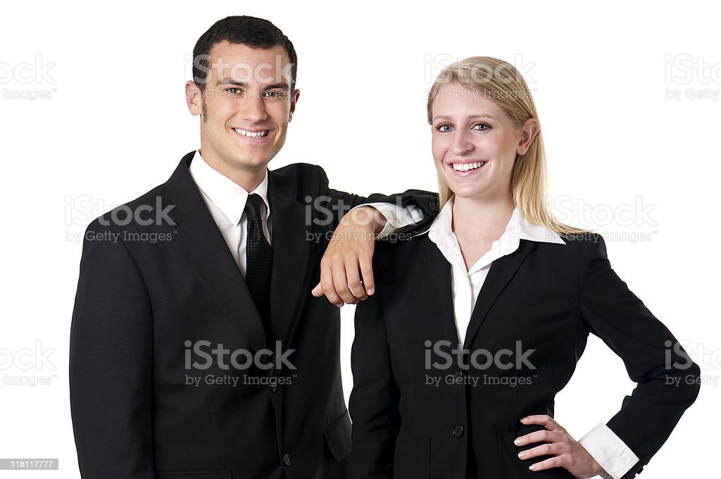 Young Upbeat Corporate Types royalty-free stock photo