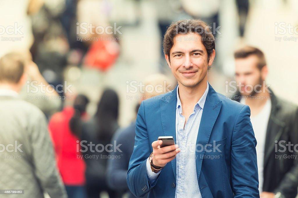 Young urban businessman portrait stock photo